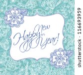 wedding card or invitation with ... | Shutterstock .eps vector #116693959