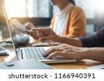 programmer programming and... | Shutterstock . vector #1166940391