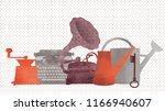 watercolor vector illustration...   Shutterstock .eps vector #1166940607