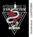 snake and roses illustration... | Shutterstock .eps vector #1166942884