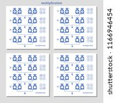 math multiplication puzzle set. ... | Shutterstock .eps vector #1166946454