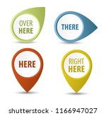 isolated red map pointer set.... | Shutterstock .eps vector #1166947027