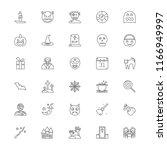 halloween line icon set | Shutterstock .eps vector #1166949997