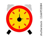 vector clock alarm illustration ... | Shutterstock .eps vector #1166953084
