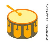 festive carnival drums isolated ... | Shutterstock .eps vector #1166953147