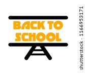 back to school   school... | Shutterstock .eps vector #1166953171