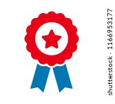 certification seal icon  ... | Shutterstock .eps vector #1166953177