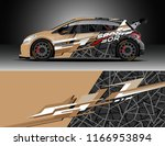 car decal wrap design vector.... | Shutterstock .eps vector #1166953894
