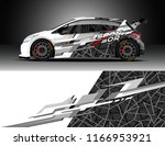 car decal wrap design vector.... | Shutterstock .eps vector #1166953921