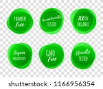 paraben free green labels or... | Shutterstock .eps vector #1166956354