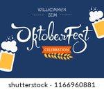 oktoberfest  handwritten...   Shutterstock .eps vector #1166960881