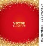 sparkling glitter border  frame.... | Shutterstock .eps vector #1166964607