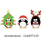 christmas penguin set | Shutterstock .eps vector #116697115