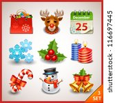 Christmas icon set-3 - stock vector
