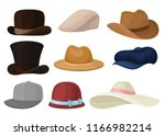 flat vector set of man and... | Shutterstock .eps vector #1166982214