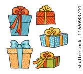 gift box vector illustration.... | Shutterstock .eps vector #1166983744