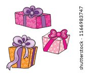 gift box vector illustration.... | Shutterstock .eps vector #1166983747