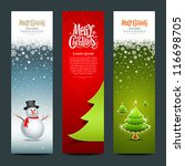 merry christmas  banner design... | Shutterstock .eps vector #116698705