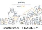memories   line design style... | Shutterstock .eps vector #1166987374