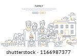 family   line design style... | Shutterstock .eps vector #1166987377
