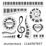Piano Keys Decorative Design...