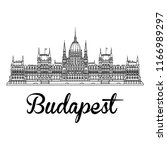 parliament of budapest in... | Shutterstock .eps vector #1166989297