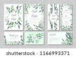 eucalyptus design. wedding... | Shutterstock .eps vector #1166993371