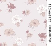seamless floral pattern. hand...   Shutterstock .eps vector #1166994751