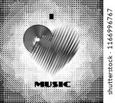 i love music abstract poster... | Shutterstock .eps vector #1166996767
