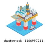 modern isometric offshore oil... | Shutterstock .eps vector #1166997211
