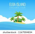 italian elba island  exotic... | Shutterstock .eps vector #1167004834