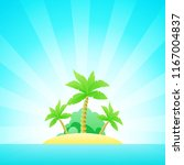 cartoon seascape with exotic...   Shutterstock .eps vector #1167004837