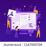 the team of web developers... | Shutterstock .eps vector #1167005704