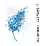 decorative  feather in zen... | Shutterstock .eps vector #1167009847