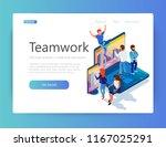 illustration of teamwork on a... | Shutterstock .eps vector #1167025291