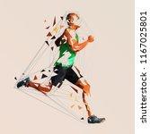 ron. vector runner  abstract...   Shutterstock .eps vector #1167025801