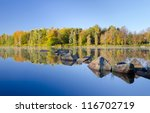 Autumn Lake Details With...