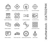 set of 16 simple line icons... | Shutterstock .eps vector #1167032944