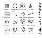 set of 16 simple line icons... | Shutterstock .eps vector #1167033034