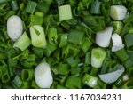 chopped young green onion ... | Shutterstock . vector #1167034231