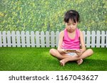 asian little chinese girl... | Shutterstock . vector #1167043627