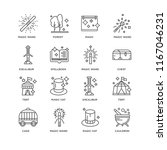 set of 16 simple line icons... | Shutterstock .eps vector #1167046231