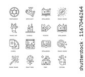 set of 16 simple line icons... | Shutterstock .eps vector #1167046264