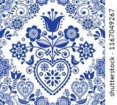 seamless folk art vector... | Shutterstock .eps vector #1167049267