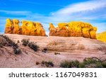 red rock canyon desert... | Shutterstock . vector #1167049831