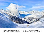 winter mountain snow peaks... | Shutterstock . vector #1167049957