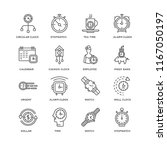 set of 16 simple line icons... | Shutterstock .eps vector #1167050197