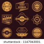 collection of labels. luxury... | Shutterstock . vector #1167063001