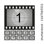 movie countdown frames set. old ... | Shutterstock .eps vector #1167065521