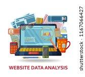 website data analysis...   Shutterstock .eps vector #1167066427